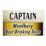 Woodbury Beer Drinking Team Rectangle Sticker 50