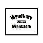 Woodbury Established 1858 Framed Panel Print
