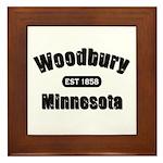 Woodbury Established 1858 Framed Tile