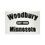 Woodbury Established 1858 Rectangle Magnet