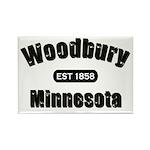 Woodbury Established 1858 Rectangle Magnet (100 pa