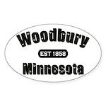 Woodbury Established 1858 Oval Sticker (10 pk)