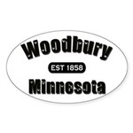 Woodbury Established 1858 Oval Sticker (50 pk)
