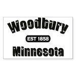 Woodbury Established 1858 Rectangle Sticker 50 pk