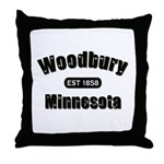 Woodbury Established 1858 Throw Pillow