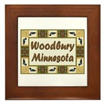 Woodbury Loon Framed Tile