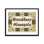 Woodbury Loon Framed Panel Print