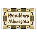 Woodbury Loon Rectangle Sticker 10 pk)
