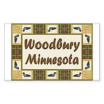 Woodbury Loon Rectangle Sticker 50 pk)