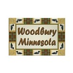 Woodbury Loon Rectangle Magnet