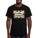 Woodbury Loon Men's Fitted T-Shirt (dark)