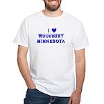 I Love Woodbury Winter White T-Shirt