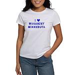 I Love Woodbury Winter Women's T-Shirt