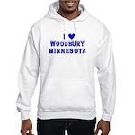 I Love Woodbury Winter Hooded Sweatshirt
