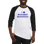 I Love Woodbury Winter Baseball Jersey