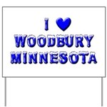 I Love Woodbury Winter Yard Sign