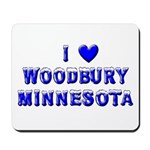 I Love Woodbury Winter Mousepad