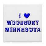 I Love Woodbury Winter Tile Coaster