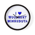 I Love Woodbury Winter Wall Clock