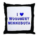 I Love Woodbury Winter Throw Pillow