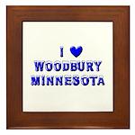 I Love Woodbury Winter Framed Tile
