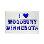I Love Woodbury Winter Rectangle Magnet