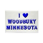 I Love Woodbury Winter Rectangle Magnet (10 pack)