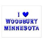 I Love Woodbury Winter Small Poster