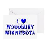I Love Woodbury Winter Greeting Cards (Pk of 10)