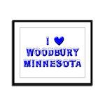 I Love Woodbury Winter Framed Panel Print