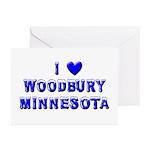 I Love Woodbury Winter Greeting Cards (Pk of 20)