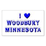 I Love Woodbury Winter Rectangle Sticker