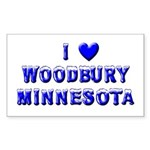 I Love Woodbury Winter Rectangle Sticker 50 pk)
