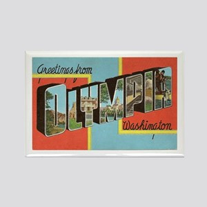Greetings from Olympia WA Rectangle Magnet