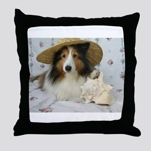 Shells and Pups Throw Pillow