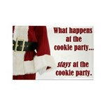 What Happens at the Cookie Party Rectangle Magnet