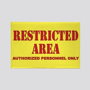 Restricted Area Rectangle Magnet