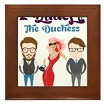 2 Dudes and The Duchess Logo Framed Tile