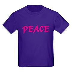 Pink Peace Kids T-Shirt