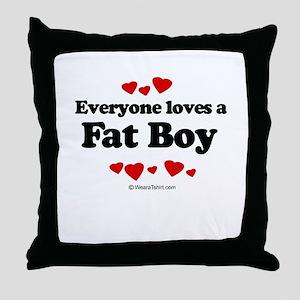 Everyone loves a Fat Boy ~  Throw Pillow