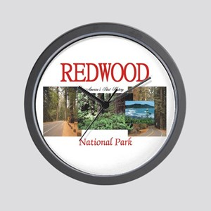 Redwood Americasbesthistory.com Wall Clock