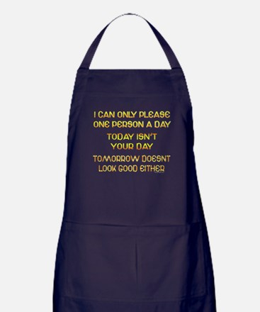 I Can Only Please... Apron (dark)