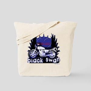 Black Swan Motorcycles Twilight Blue Tote Bag