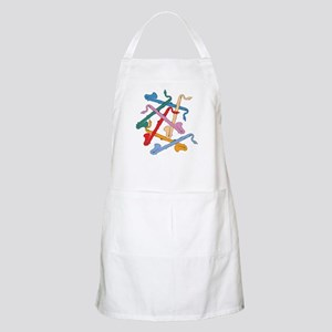 Colorful Bass Clarinets Apron