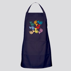 Colorful French Horns Apron (dark)