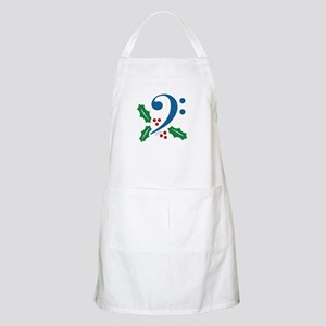 Bass Clef Holly Apron