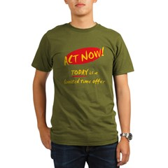 Act Now - Organic Men's T-Shirt (dark)