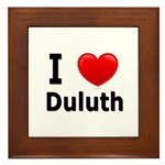 I Love Duluth Framed Tile