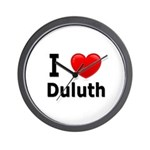 I Love Duluth Wall Clock