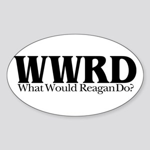 WWRD What Would Reagan Do Oval Sticker